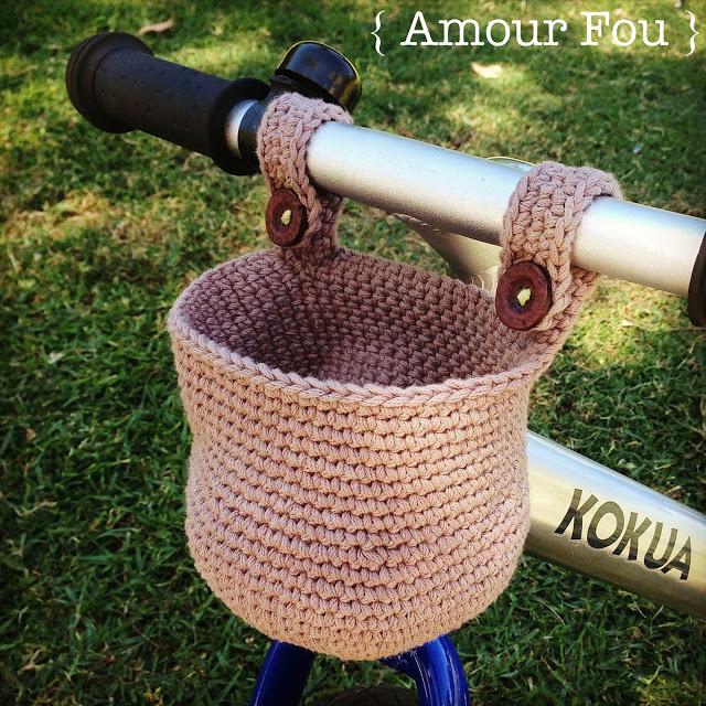 Patrón gratis canasta bici infantil crochet