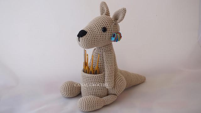 Patrón gratis canguro amigurumi crochet