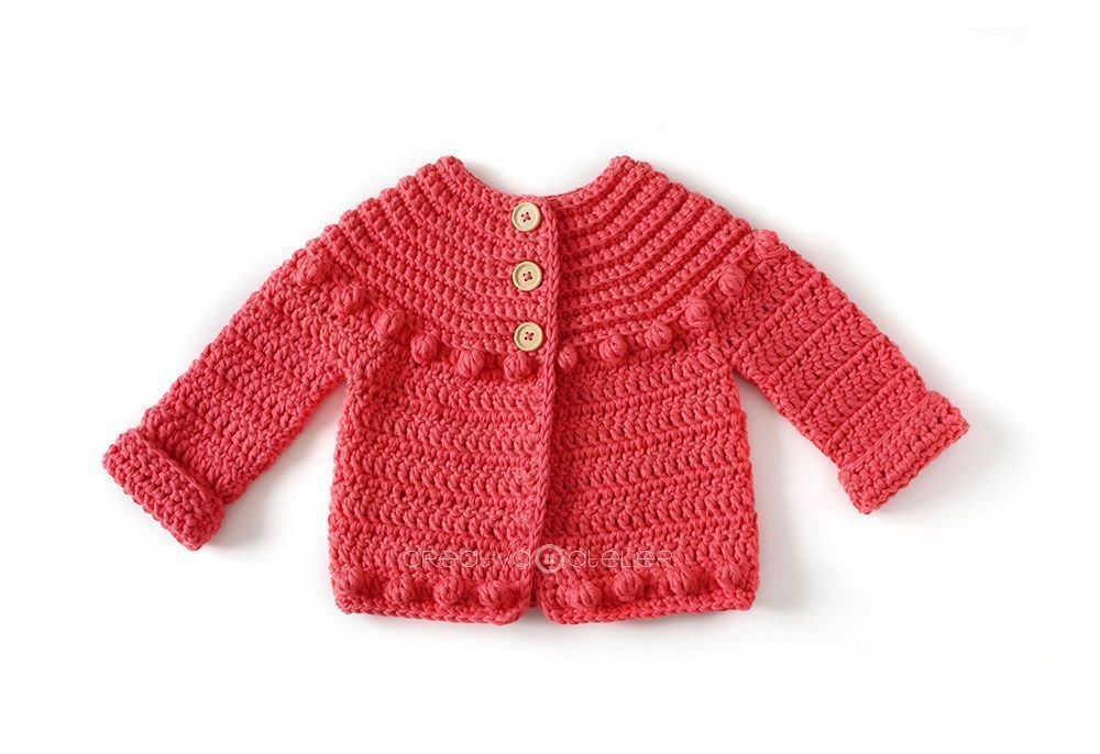 Patrón gratis chaqueta niña crochet