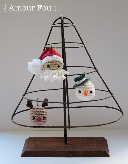 Patrón gratis decoraciones navideñas crochet