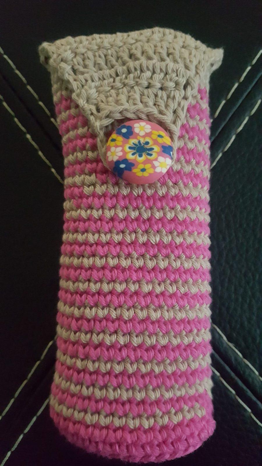 Funda cargador móvil crochet