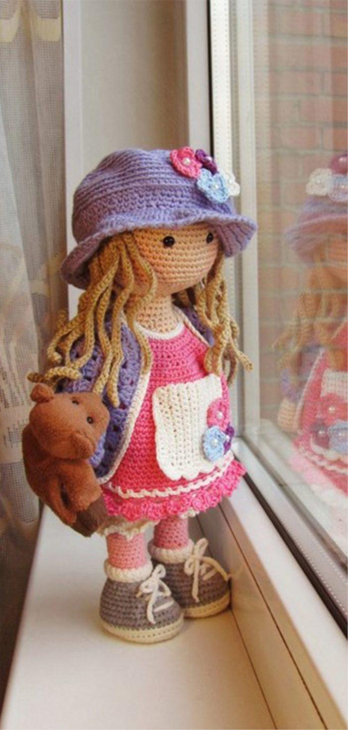 Patrón gratis muñeca amigurumi