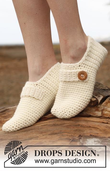 Patrón gratis pantuflas crochet