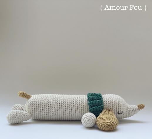 Patrón gratis perro salchicha amigurumi crochet