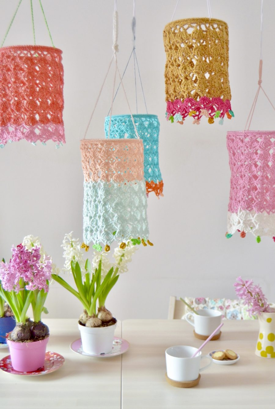 Patrón gratis lámpara crochet