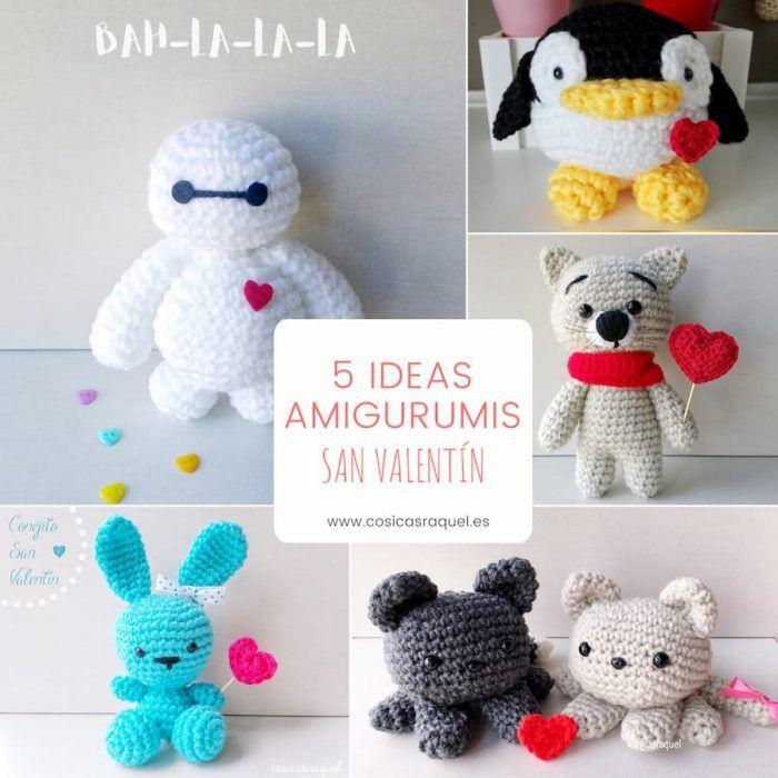 Patrón gratis amigurumis San Valentín crochet