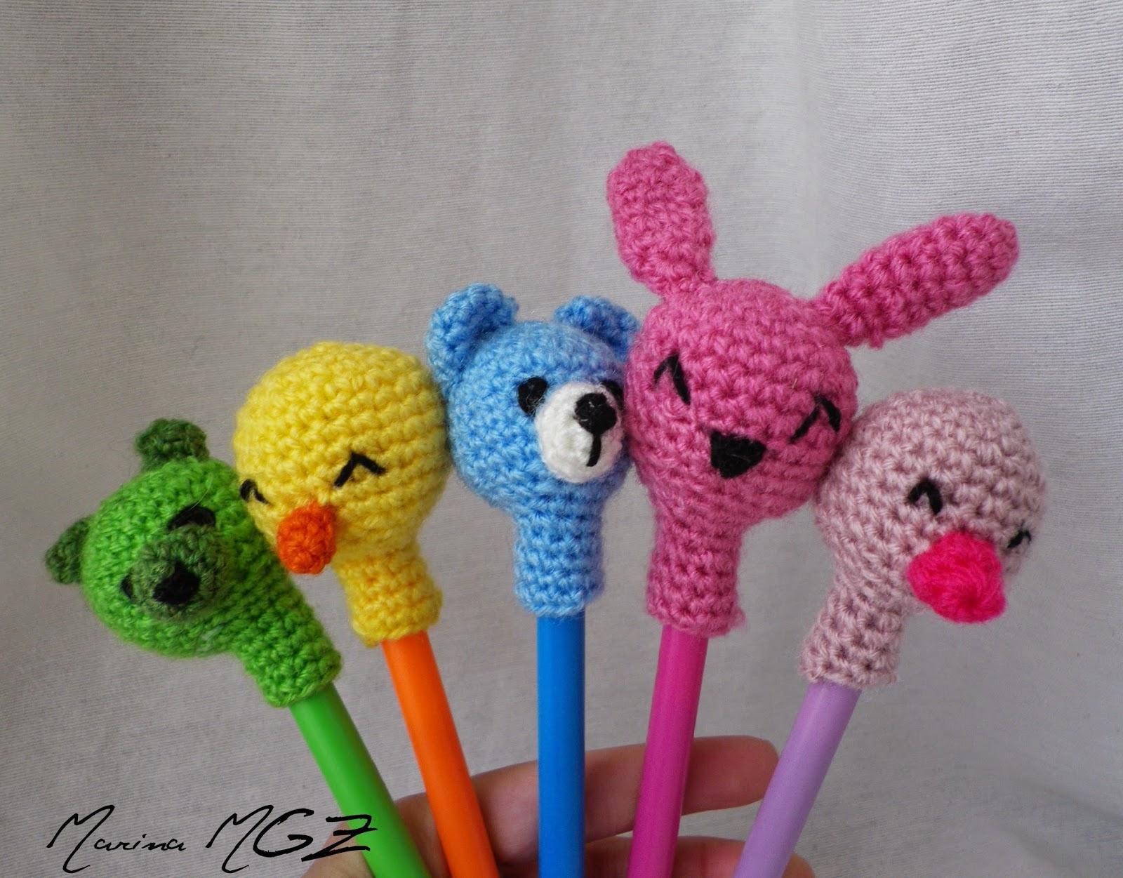 Animalitos amigurumi para lapiceros crochet