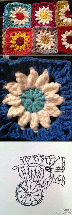 Patrón granny crochet