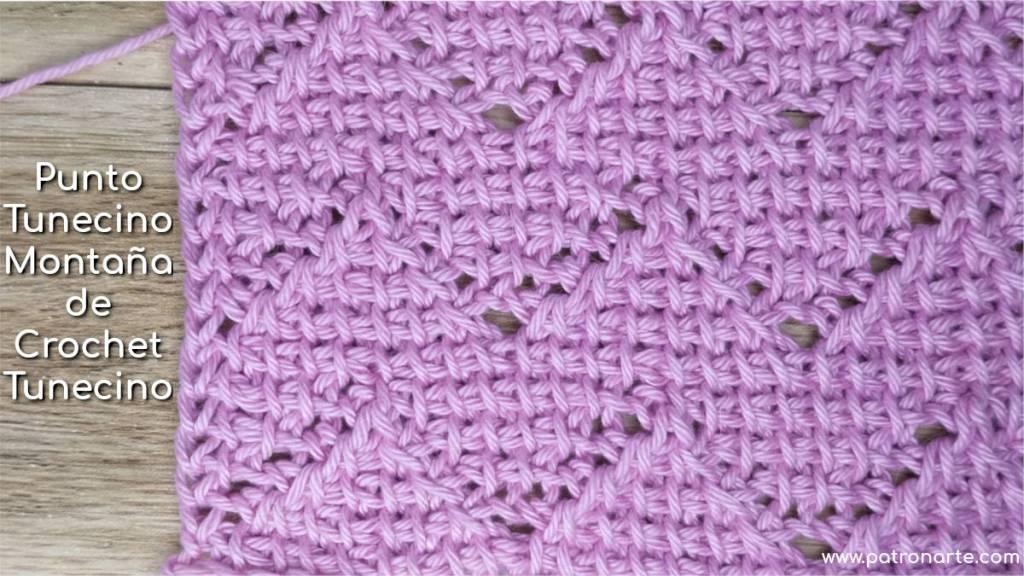 Punto tunecino montaña de crochet