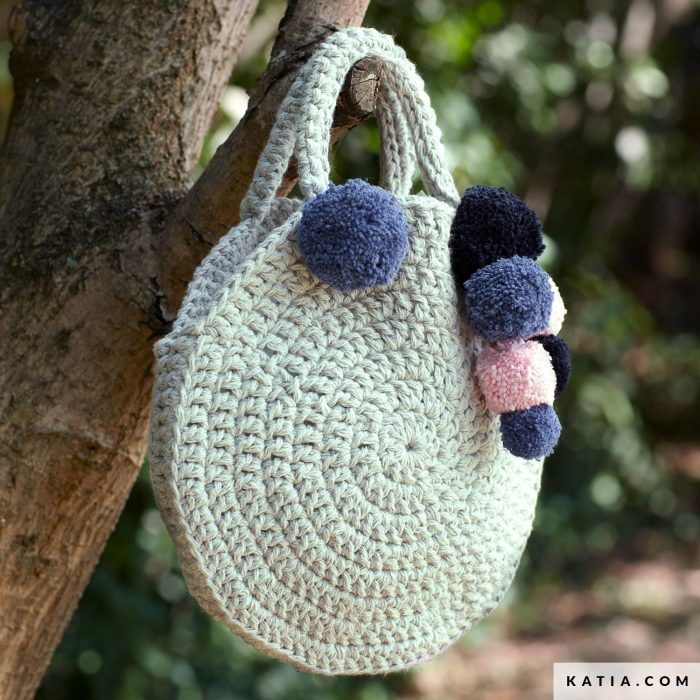 Patrón gratis bolso redondo crochet