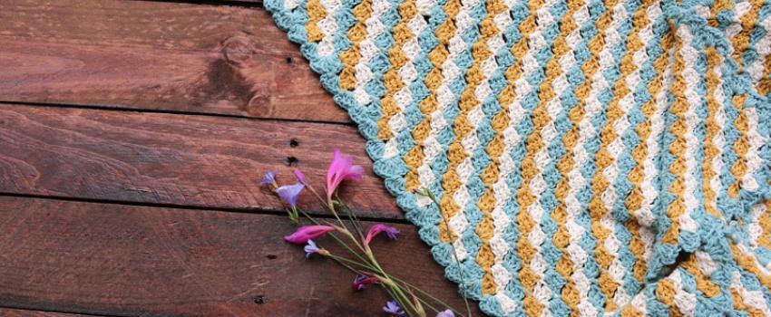 Patrón gratis manta c2c crochet