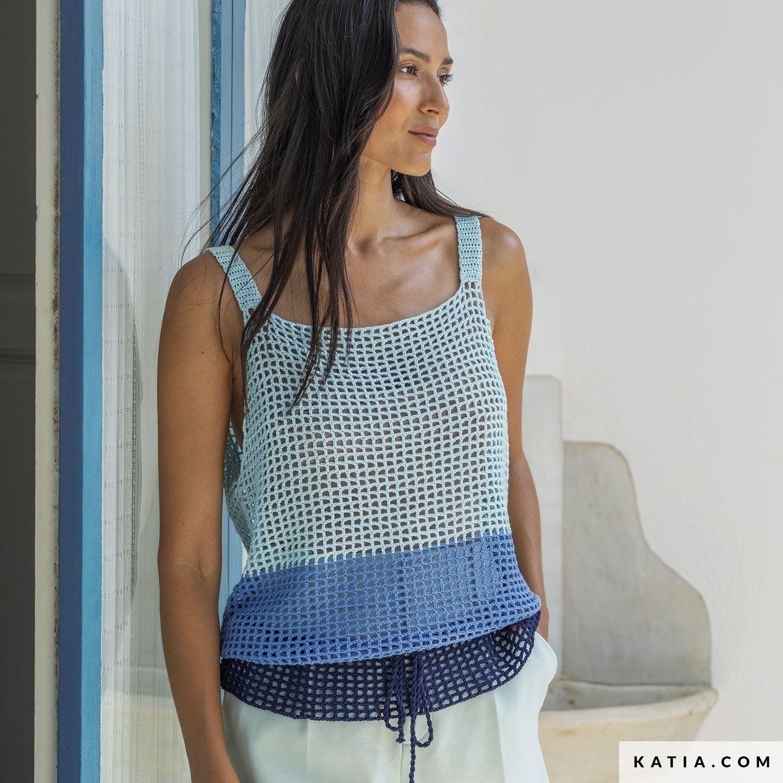 Top o camiseta Panamá crochet
