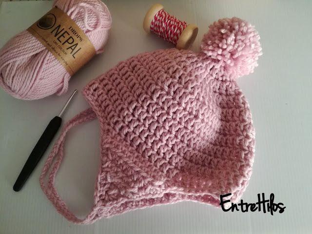 patrón gratis gorro orejero crochet