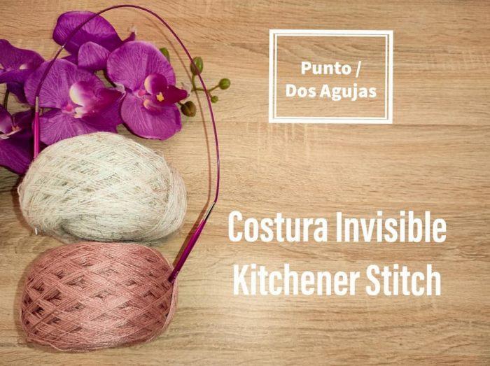 Costura invisible, kitchener stich
