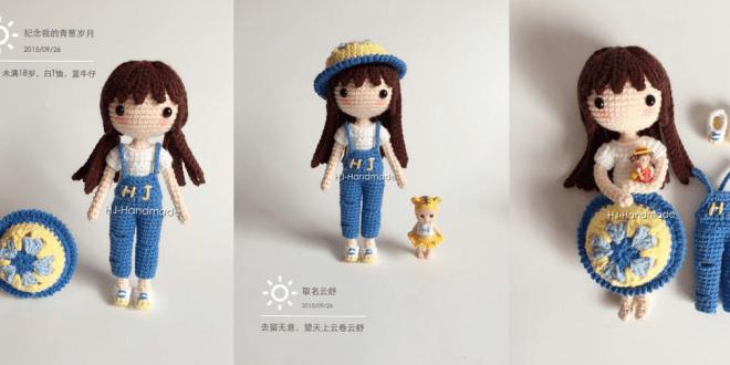 Patrón gratis muñeca Yunshu amigurumi crochet