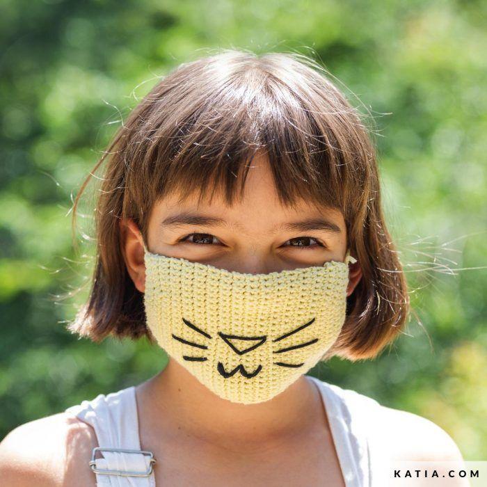 Patrón gratis cubre mascarilla niños crochet