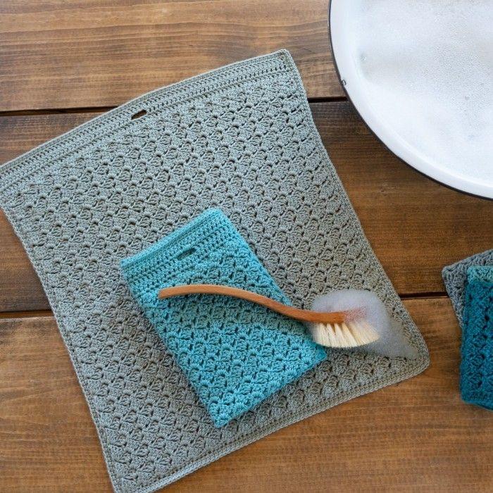 Paños cocina side by side crochet