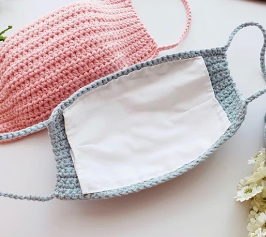 Patrón gratis mascarilla crochet