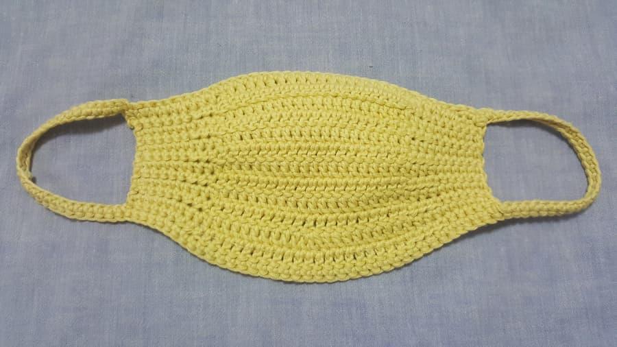 Patrón gratis mascarilla casera crochet