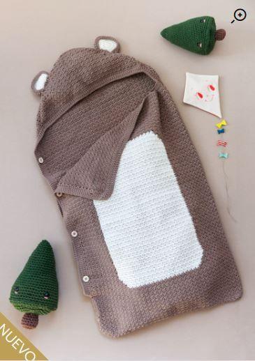 Patrón gratis saco osito crochet