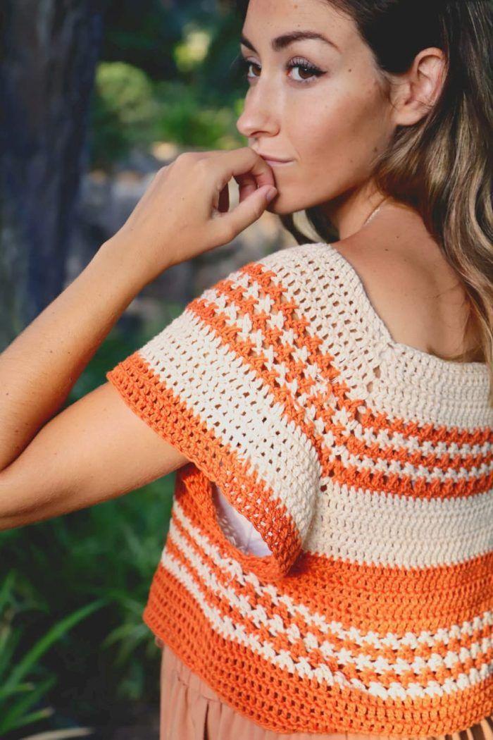 Patrón gratis top crochet