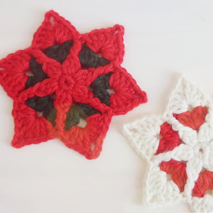 Tutorial gratis estrellas Navidad crochet