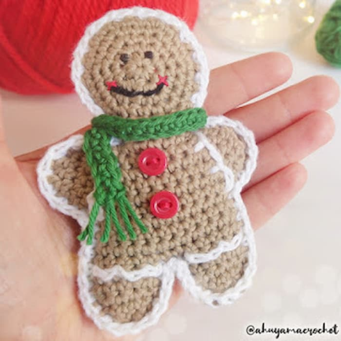 patrón gratis galletas jengibre amigurumi crochet