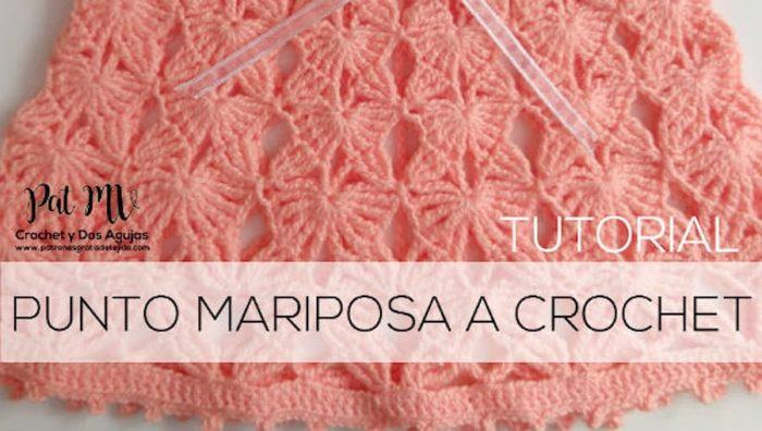 Punto mariposa crochet