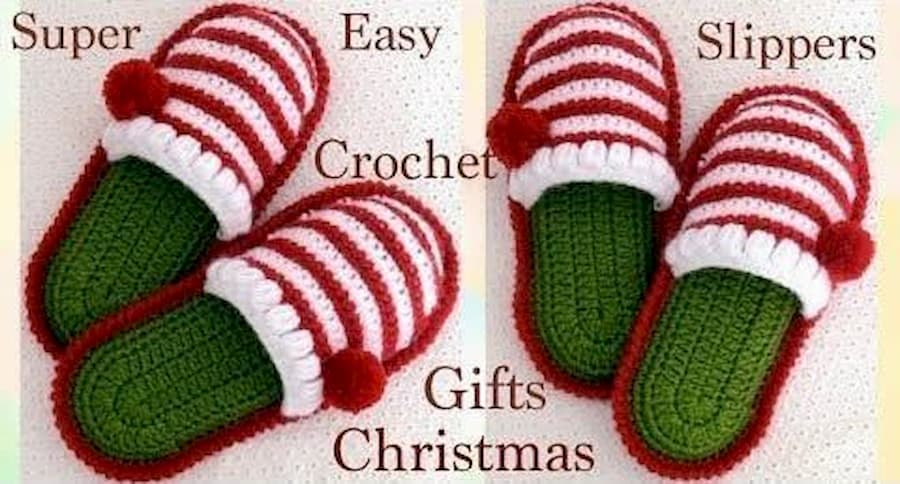 Patrón gratis pantufla crochet