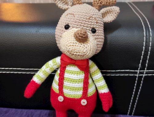Reno Navidad amigurumi crochet