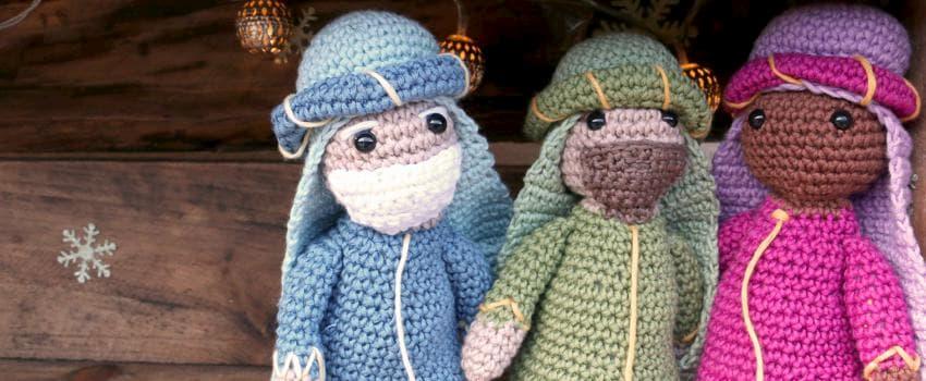 Patrón gratis Reyes Magos amigurumi crochet