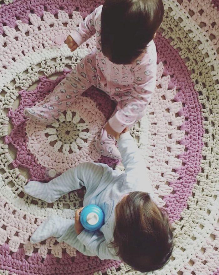 Patrón gratis paso a paso alfombra crochet