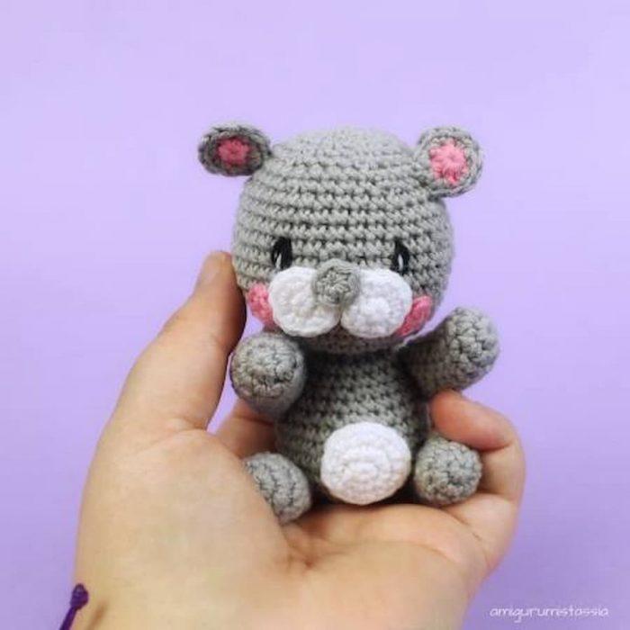 ardilla kawaii amigurumi crochet