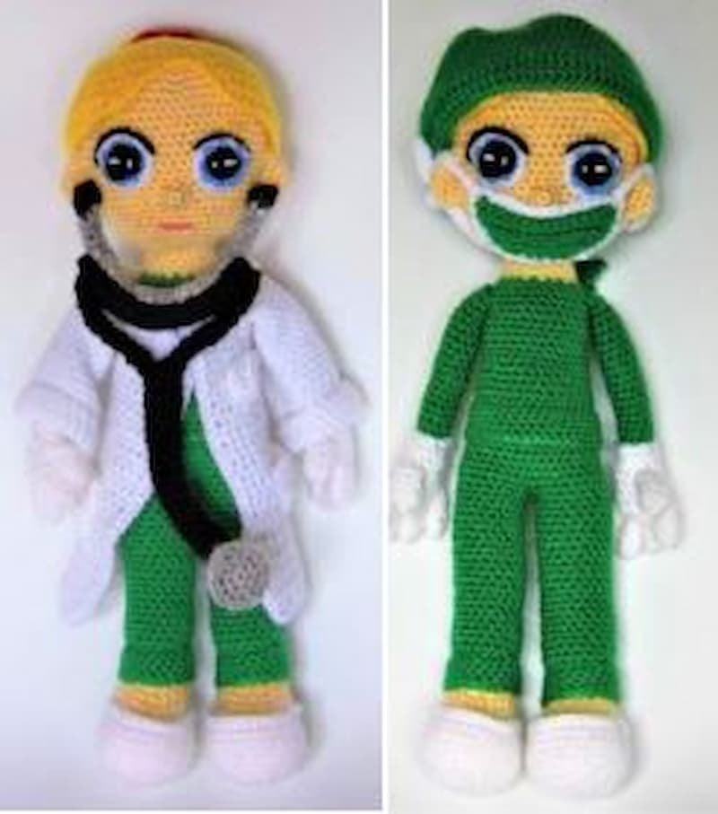 Doctor y doctora amigurumi crochet