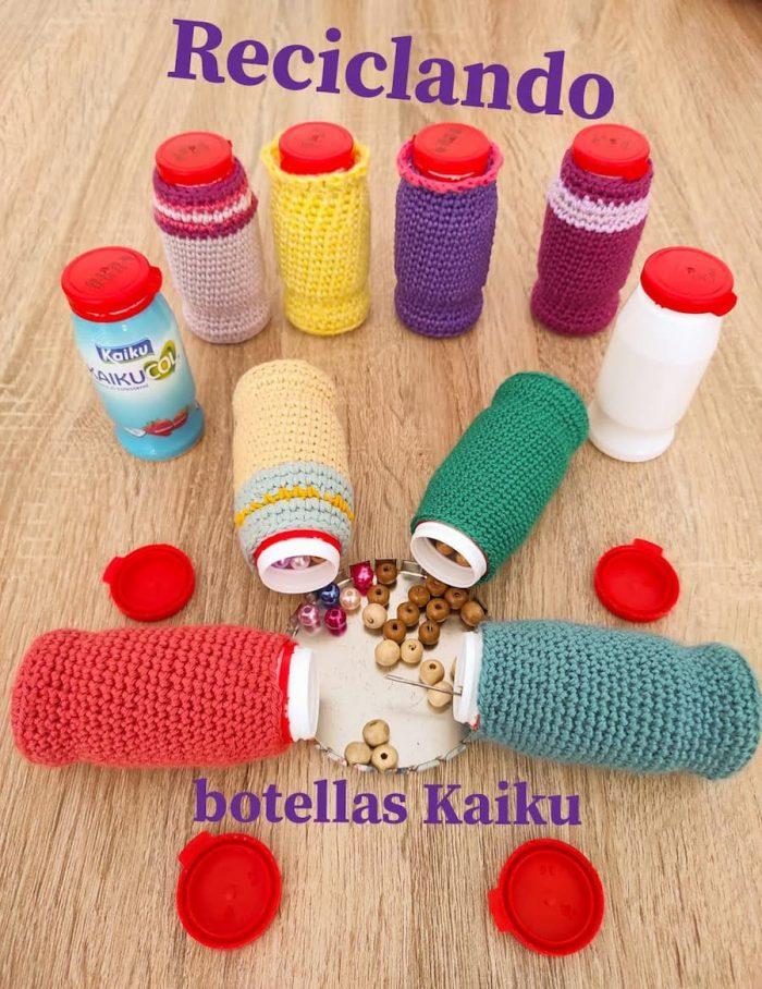 Reciclando botellas kaiku crochet
