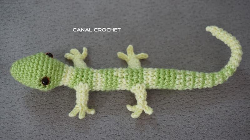 patrón gratis lagartija amigurumi crochet