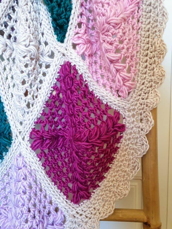 patrón gratis manta crochet
