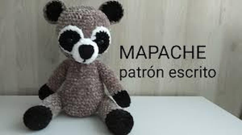 Patrón gratis mapache amigurumi crochet