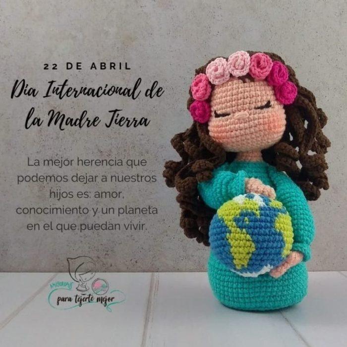Muñeca Gaia Madre Tierra amigurumi crochet