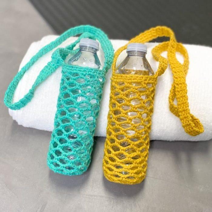 Patrón gratis portabotellas crochet