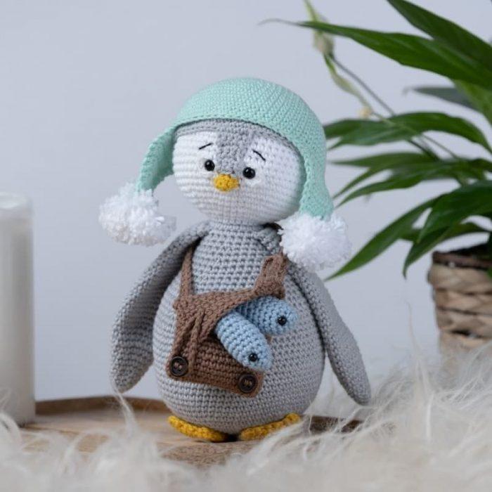 Patrón gratis pinguino amigurumi