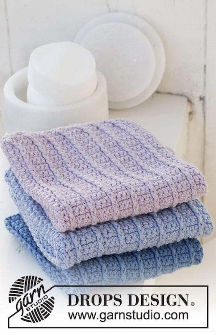 Patrón gratis paños crochet
