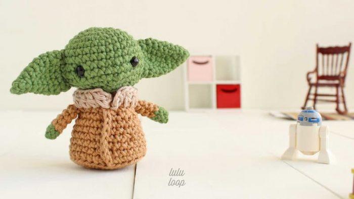 Patrón gratis Yoda baby amigurumi
