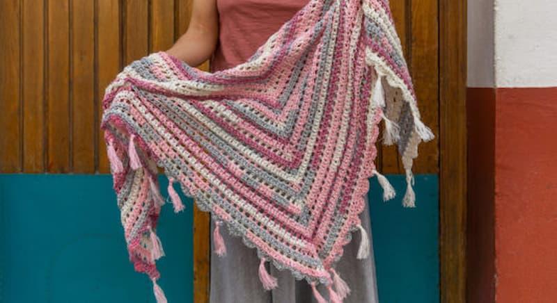 Patrón gratis chal crochet
