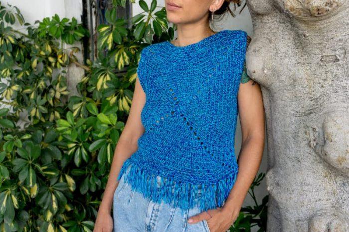 Top Blue crochet