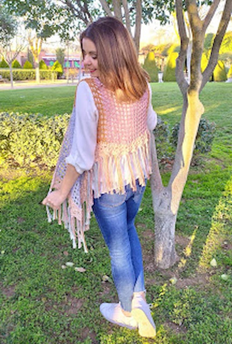 Patrón gratis chaleco crochet