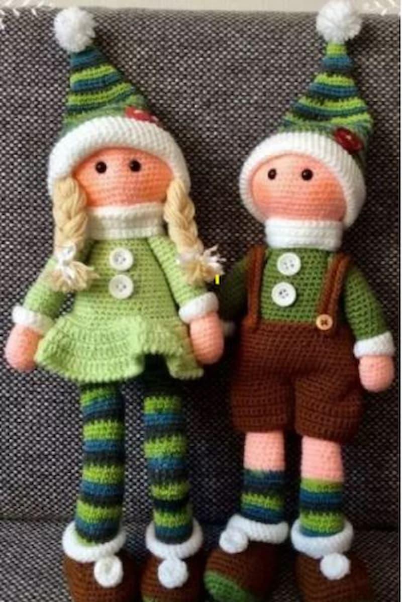 Hermanos elfos amigurumi crochet