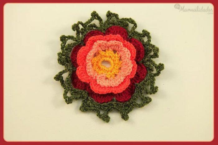 flores 3 crochet